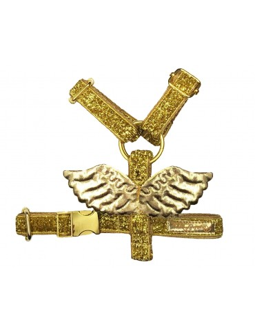 Szelki guard Wings złote