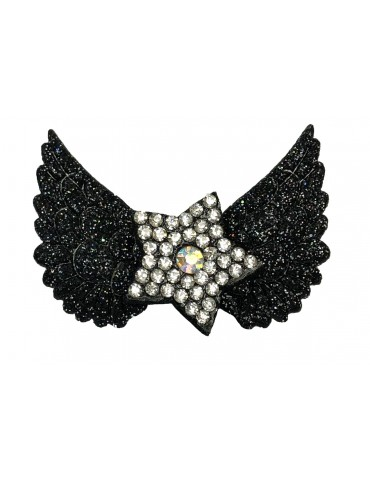 Hair Clip Wings Black