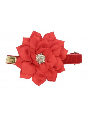 Collar Floral Red