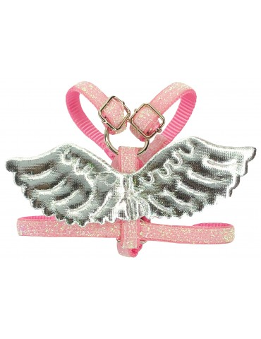 Harness Guard Wings Pink-Silver