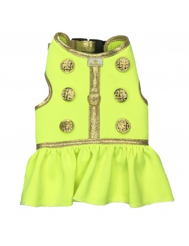 Harness-Dress Yellow Neon