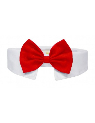 Bow-tie Collar Elegance Red