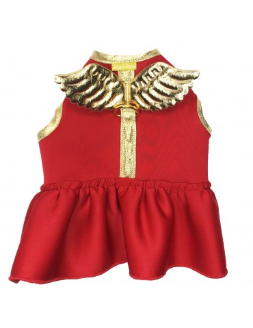 Harness-Dress Wings Red