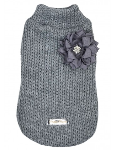 Sweater Floral Gray