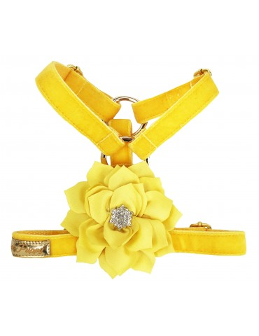 Harness Guard Floral Yellow